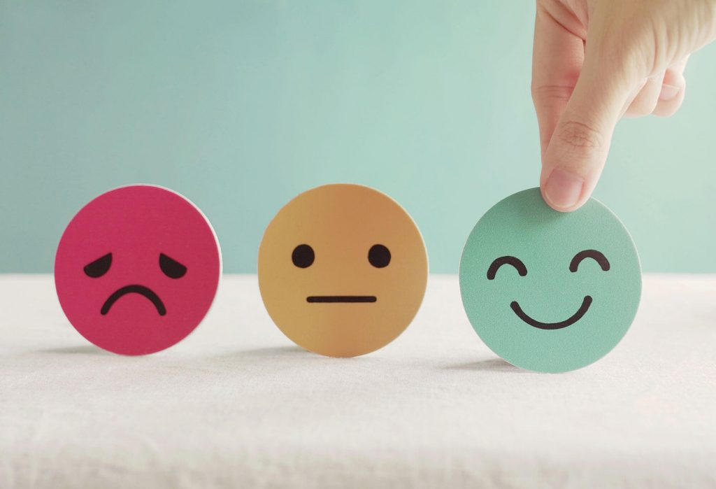 Rutland Health Network have your say, 3 different emoji faces, happy, sad and indifferent